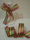 Funky Seaside Candy Rock stripes deckchair - Luxury Wire Edged Ribbon  NEW