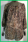 Evans Animal Print Sheer Blouse with Floaty Sleeves BN SIZE 16  LAST ONE SALE
