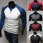 New Men's Stylish Casual Slim Fit Crew-neck Long Sleeve Tops Tee T-shirt 5 Color