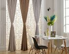 2X Solid Beige Coffee Grey Blockout Curtain Panel Contemporary Modern Simple