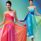 Rainbow Formal Ball Gown Graduation Party Homecoming Wedding Cocktail Prom Dress