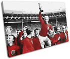 England 1966 World Cup  Sports SINGLE CANVAS WALL ART Picture Print VA