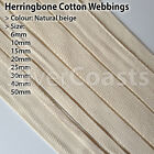 Cotton Webbing Natral Beige Clothing Apron Herringbone Twill Tape Sewing Bunting