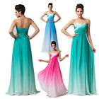 ❤ CHARM ❤ Long Evening Formal Party Gown Prom Wedding Bridesmaid Dress Size 6-20