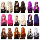 19 Color Long Wavy Women Lady Heat Resistant Hair Cosplay Costume Anime Wig +Cap