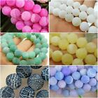 "6 COLOURS Dream Fire Dragon Veins Agate Gems Loose Beads Strands 15"" (6-10MM)"