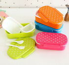 Mini Children Microwave Bento Picnic School Lunch Box Food Container&Spoon Fork