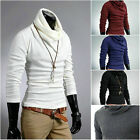 Slim rotating pile collar bottoming shirt men's solid color turtleneck 1795
