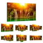 47 Shapes Canvas Picture Print Wall Art Nature sunset Landscape Waterfall 2228 E