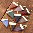 Crystal Quartz Pyramid Healing Point Reiki Chakra Gemstone Pendants For Necklace