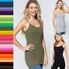 XL 1XL 2XL 3XL Plus Size Women's Long Cami Adjustable Straps