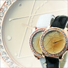 NEW Fashion Ladies Quartz Wrist Crystal Leather Watch Sport Classic Dial Womens