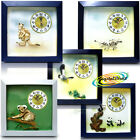 PSV 3D Wild Nature Animal Bird Wall Hall Kitchen Bedroom Kids Room Gift Clock