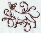 CAT BLANKET EMBROIDERED 4 COLOURS 9 BREEDS BNWT SIAMESE