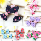 Pair Hairpin Hair Clips Accessories Fashion Polka Dot Bow For Girls Baby Kids