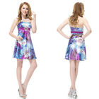 Ever Pretty Ladies Printed Mini Cocktail Party Casual Summer Simple Dress 03588