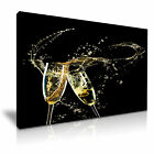 CHAMPAGNE SPLASH Canvas Framed Print Pub Club Deco - More Size