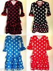 Girls Polka Dot Deluxe Spanish Flamenco Dance Dress 4 6 8 10 12 Choice of Colour