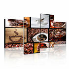 FOOD&DRINK Drink Coffee 9 4A-RH Canvas Framed Printed Wall Art ~ 4 Panels