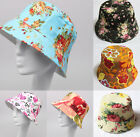 Summer Hot Sale Unisex Cotton Hunting Fishing Outdoor Sun Cap Bucket Hat Floral
