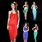Sexy Women's Chiffon Dress Sarong Beach Swimwear Bikini Cover Up Scarf 15 Colors
