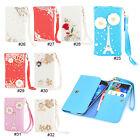 3D Bling Diamonds PU Leather Wristlet Flip Wallet Case Cover For 4.7'' iPhone 6