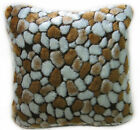 fp840a Brown Light Brown Off White Stone Soft Faux Fur Cushion Cover/Pillow Case