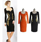 New Womens Ladies Sexy Bodycon Cocktail Party Evening Slim Dresses Size UK 8-16
