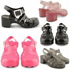 NEW KIDS GIRLS GLADIATOR SANDALS GLITTER CASUAL RETRO CLOSED TOE SHOES UK SIZES