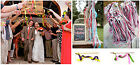 10Pcs Twirling Ribbon Wand Wedding Party Favor Stick with Bell Colourful beauty