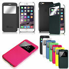"For Apple iPhone 6 Plus (5.5"") Flip Leather Slim Fit Hard Back Shell Case Cover"