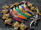 Gold & silver necklace bracelet CENTRAL CONNECTOR crytal BOW ANGEL WING LIZARD