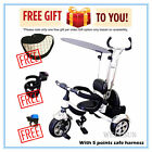 Wellsun 4-in-1 Children Tricycle Baby Kid Trike 3 Wheel Bike with Harness_New UK