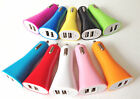 Lot  2A HORN TRUMPET CAR chargers dual usb FOR apple iphone 6 4 4s 5 5s ipod