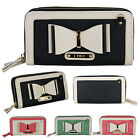 LYDC Ladies Girls Bow Bow Clutch Two Tone Double Compartment Clutch Bag
