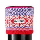 HUNTER FAIRISLE MULTI RED ROYAL PURPLE TALL ORIGINAL FLEECE WELLY SOCK SIZE 3-5-