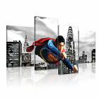 Superman Modern Wall Art Canvas Print Framed Box ~ 4pc Many Sizes & Style