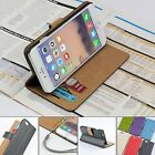 For Apple iPhone 6-4.7' Genuine Leather Wallet Case Card Holder Flip Cover