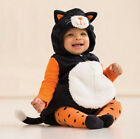 Carters 3 6 9 12 24 Months Kitty Halloween Costume Baby Girl Outfit Orange Black