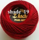 1 ANCHOR Pearl Cotton Crochet Embroidery Thread Ball.1 Flat Postage / Free on 10