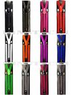 Mens Womens Glitter Clip-on Suspenders Elastic Y-Shape Adjustable Braces