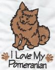 EMBROIDERED POMERANIAN     FLEECE or HOODIE or  SWEATSHIRT 6 SIZES 8 COLOURS