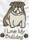 EMBROIDERED  BULLDOG  FLEECE or HOODIEor  SWEATSHIRT 6 SIZES 8 COLOURS