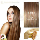 "24"" DIY kit Indian Remy Human Hair I tips/micro beads  Extensions  AAA GRADE #6"