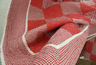 RED CHECK*Tagesdecke*Rot Creme*260x260 *Landhaus*Sofaüberwurf*Plaid*Country Home