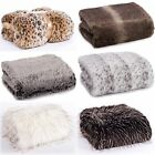 Exotic Faux Animal Fur Soft Touch Comfy Warm Throw Blanket Sofa Cover