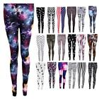 Women's Pinstripe Peace Nebula USA Dogtooth Aztec Camo Print Ladies Leggings