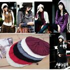 New Chic Warm Winter Women Beret Braided Baggy Crochet Beanie Hat Ski Cap FKS