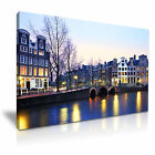 AMSTERDAM Holland Netherlands Canvas Framed Print ~ More Size