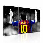 Lionel Messi Modern Wall Art Canvas Print Framed Box ~ 3pc Many Size